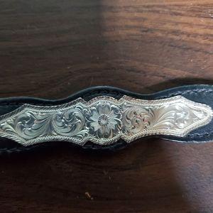 Vintage Black & Silver Southwestern Belt